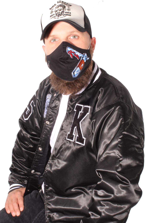 Klappmesser Gesichtsmaske Stoffmaske Behelfsmaske Mundmaske 3lagig