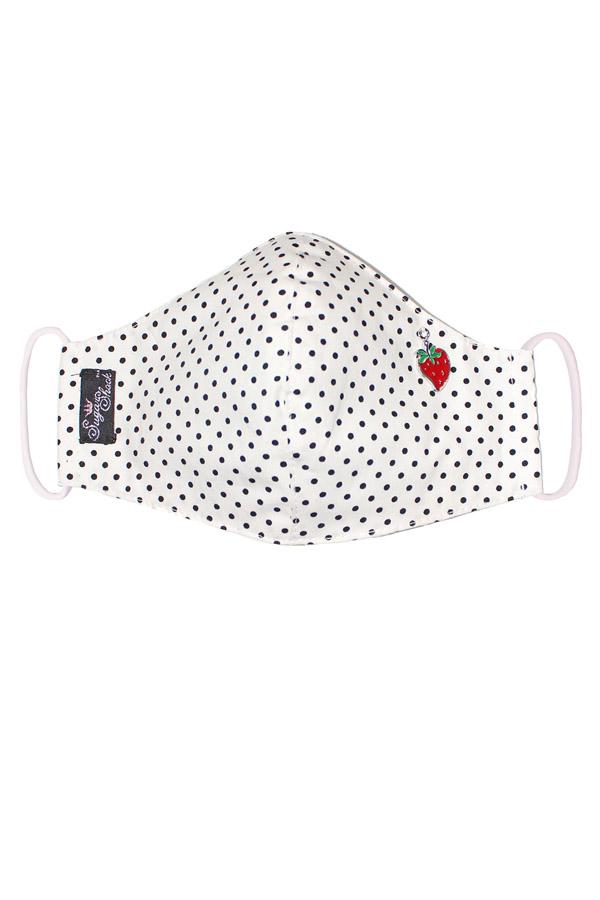 Punkte Erdbeer Gesichtsmaske Stoffmaske Behelfsmaske Mundmaske 3lagig