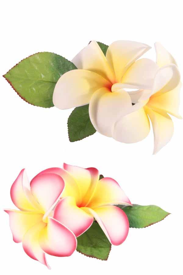 Frangipani Blüten Haarblüten Blumen rockabilly Haarspange Hairclip