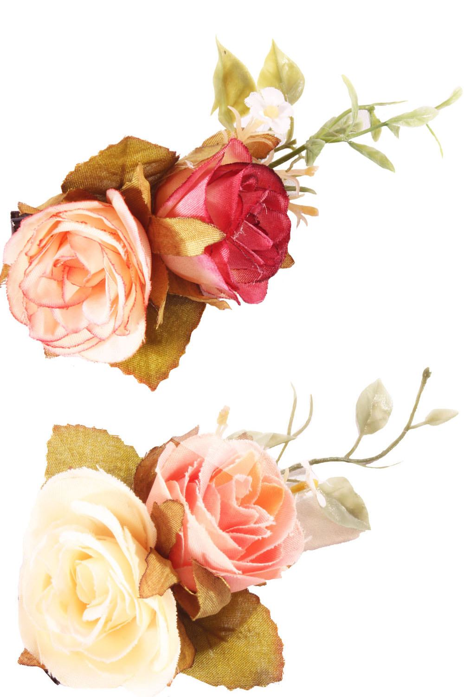 Doppelte Rosen Haarblüten Blumen rockabilly Haarspange Hairclip