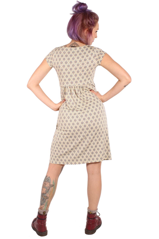 details zu 60er jahre retro baby doll kleid sommerkleid jerseykleid creme