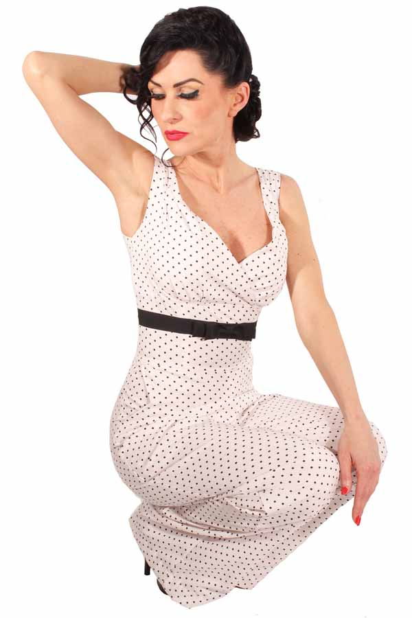 retro Polka Dots Playsuit Marlene Jumpsuit Punkte Overall