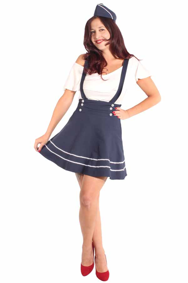 Sailor rockabilly Hosenträger Marine Swing Mini Rock