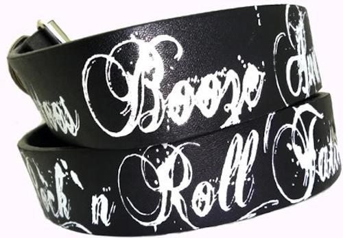 TATTOO s Booze & Rock n Roll rockabilly punk emo Gürtel