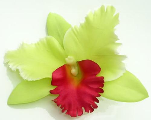 Orchidee Hibiskus Blüte Hawaii TIKI Haarspange pin up grün