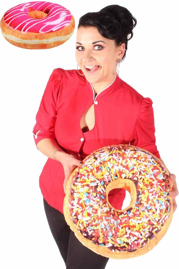 XXL Donut rockabilly retro Deko Sofa Kissen Lounge Sitzkissen 40cm
