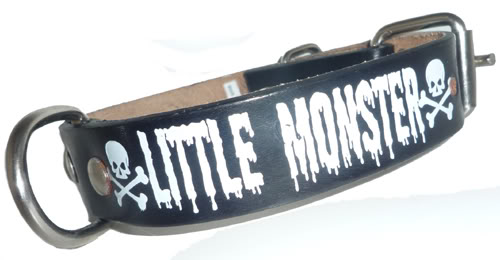 Little Monster Skull punk rockabilly Hundehalsband