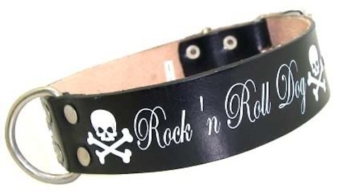 Rock n roll Dog Skull punk rockabilly Hundehalsband