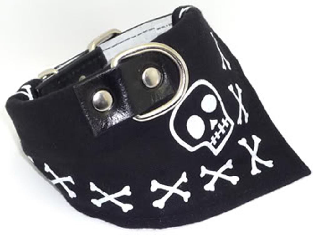 Skull Totenkopf Knochen Bandana Tuch Hundehalsband