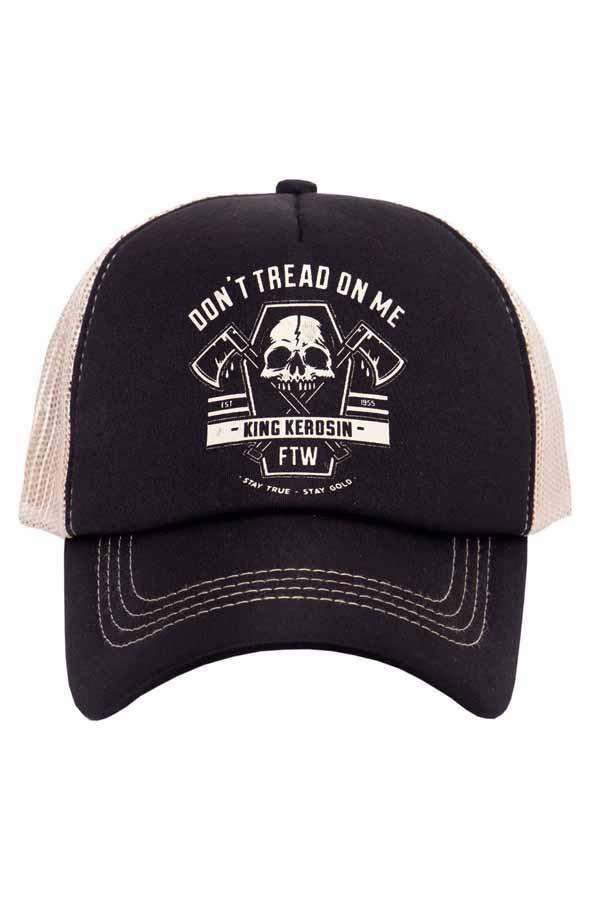 King Kerosin Baseballcap Totenkopf Baseball FTW Snapback Trucker Cap