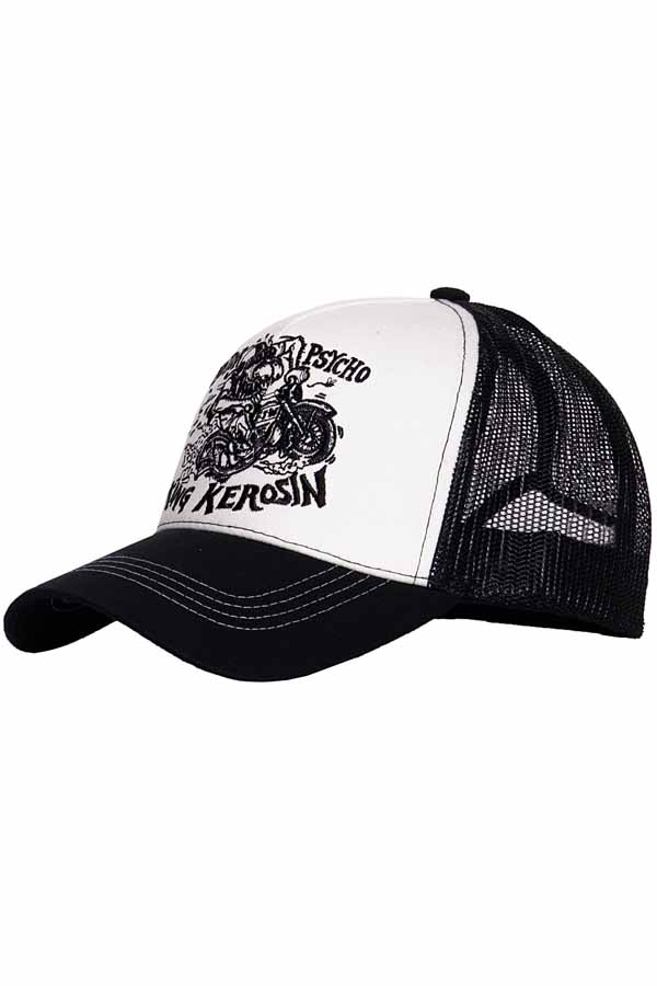 King Kerosin Baseballcap Motorpsycho Baseball Trucker Snapback Cap