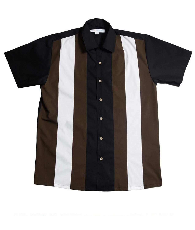 1cf9642e7c0ae6 3 Panel rockabilly Lounge Shirt BOWLING Hemd schwarz oliv | eBay
