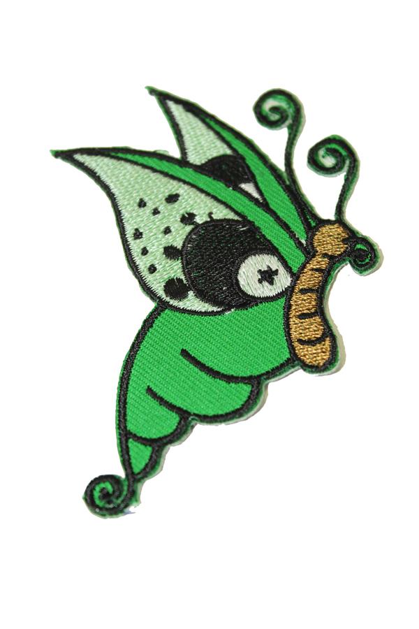 Tattoo Butterfly retro Schmetterling rockabilly Patch Aufnäher grün