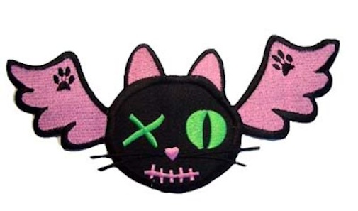 Kitty Wings evil pussy cat Bat batcave gothic Patch