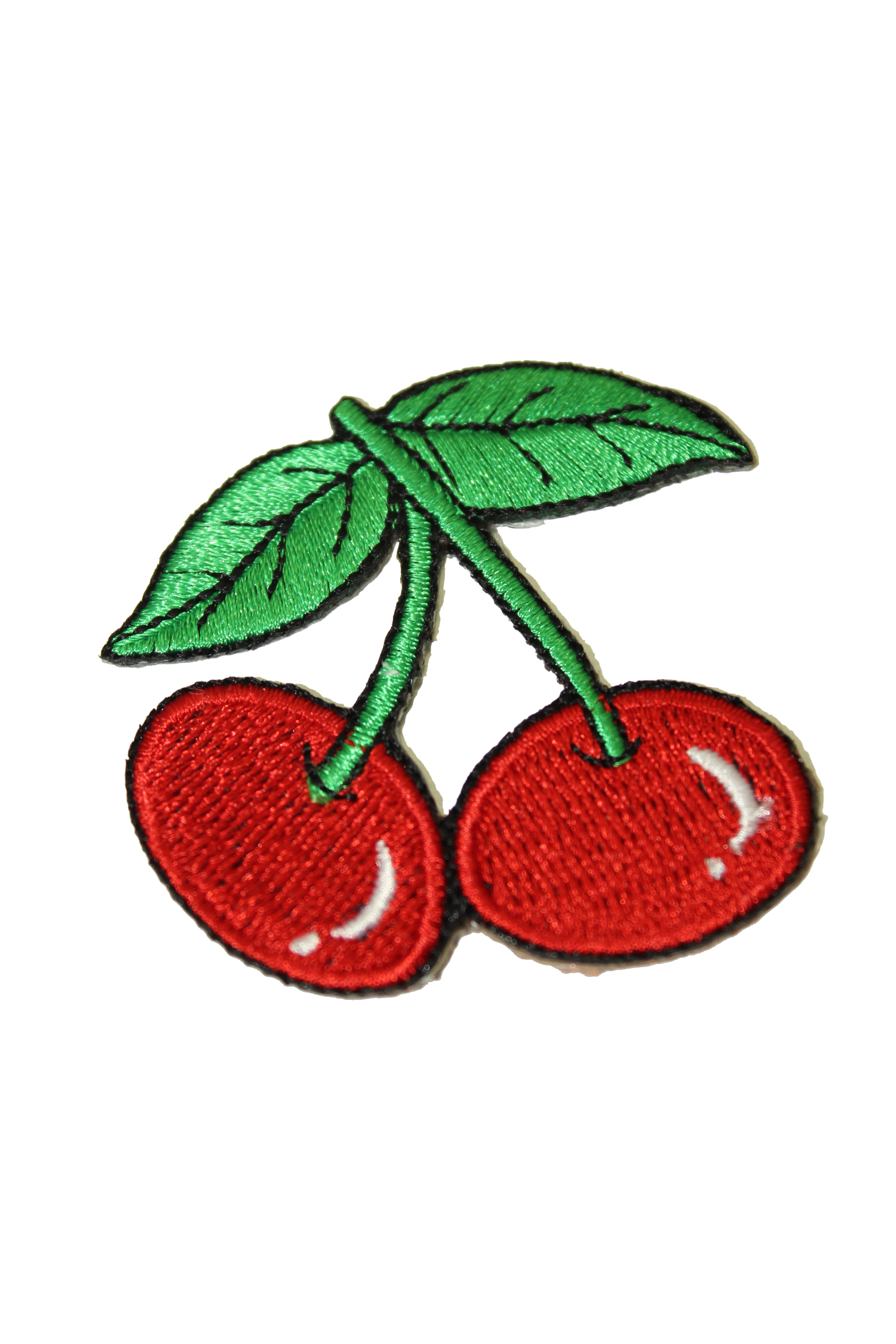 kleiner retro Cherry rockabilly Kirschen Patch, pin up Aufnäher rot