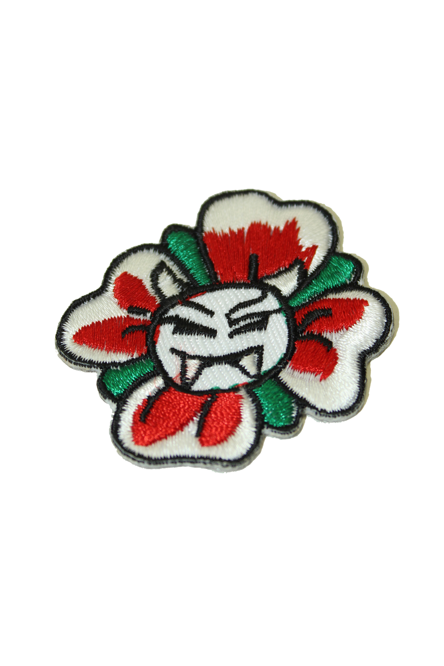 Mini Evil Vampir Flower Skull punk rock Totenkopf Patch Aufnäher