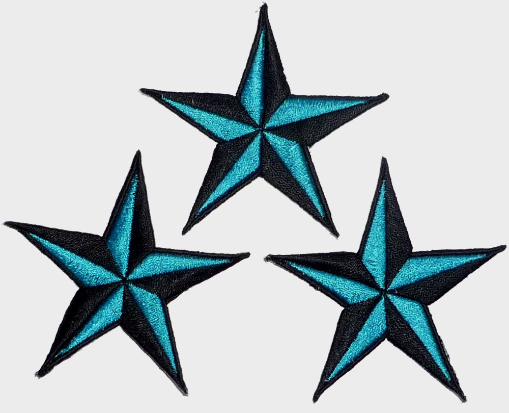 Nautic Star Sterne rockabilly punk rock Patch SET