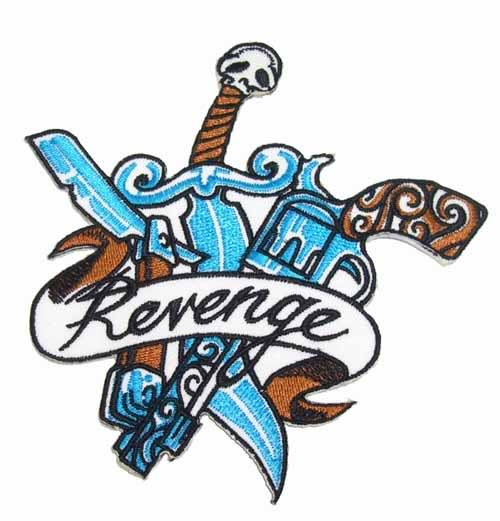 Revenge Gun Razor Skull punk rock emo rockabilly Patch