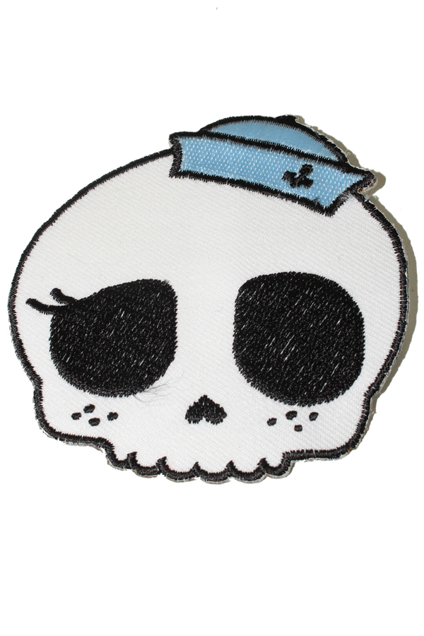Sailor Skull punk rock Totenkopf Rockabilly Matrose Patch Aufnäher