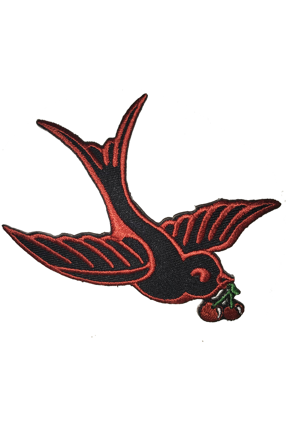Cherry Swallow retro Schwalben Kirschen rockabilly Patch Aufnäher
