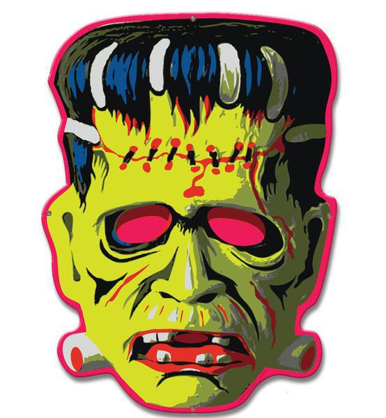 Cranky FRANKIE Zombie BLECHSCHILD Halloween Metallschild 40 cm