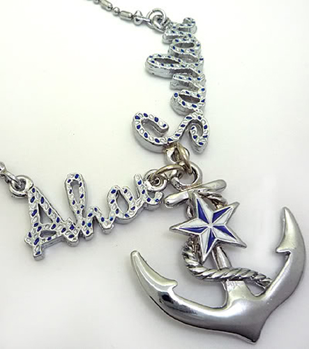Sailor Anker pin up Stern rockabilly Star Halskette
