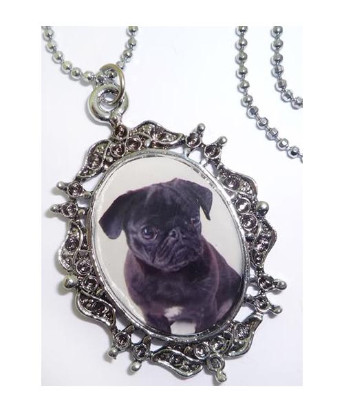 Mops PUG DOG rockabilly Hunde Kette Halskette