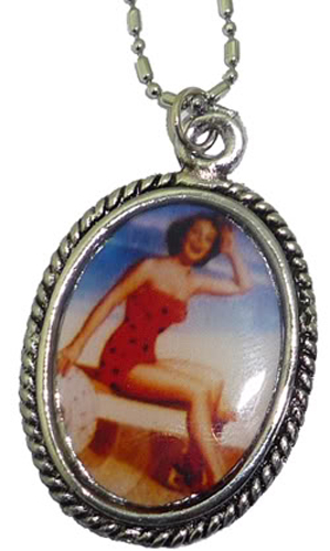 Fifties PIN UP Retro Amulett rockabilly Halskette Kette
